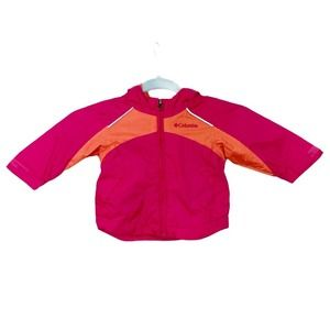 Columbia Packable Rain Jacket 12M Pink Orange